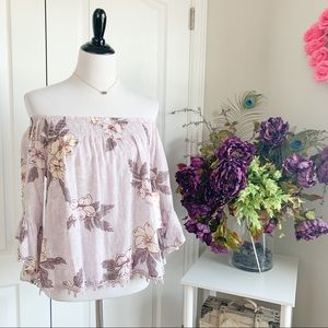 Wild Pearl Off The Shoulder Floral Top